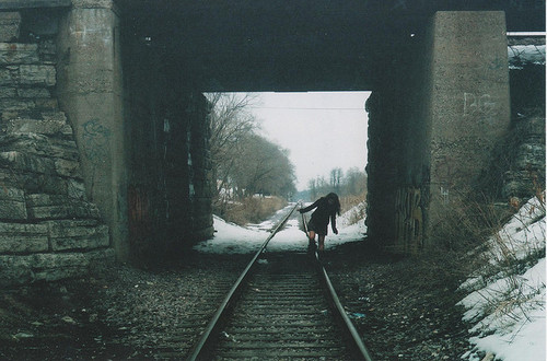 dark-girl-railroad-track-railroad-tracks-snow-track-Favim.com-91912