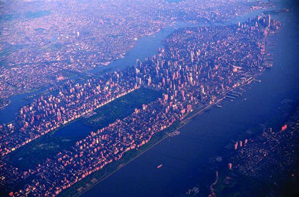 Manhattan from plane 1993